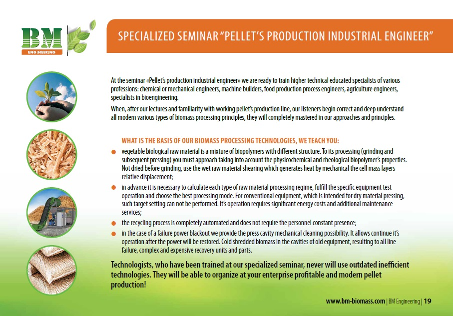 Specialized Seminar «Pellet'S Production Industrial Engineer