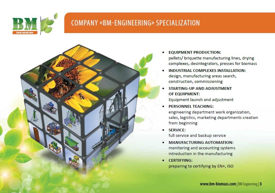 Engineering company processing of biomass | «BM engineering